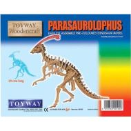 Parasaurolophus Dinosaur Model - Pre-Coloured Woodencraft Kit