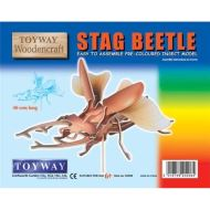 Stag Beetle 3D Pre Coloured Insect Model
