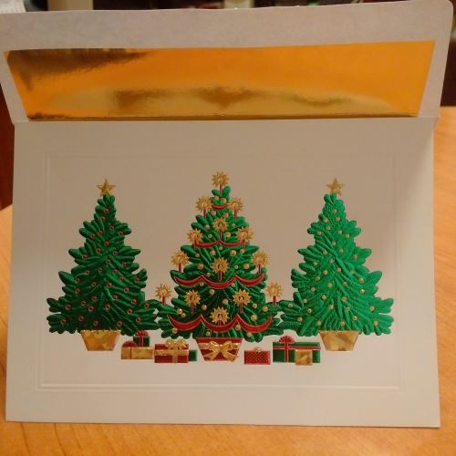 CHRISTMAS CARDS TREES Greeting card