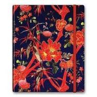 NOTEFILE FLORAL RED