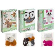 3 ASSORTED KNIT-YOUR-OWN KITTY/OWL/FOX