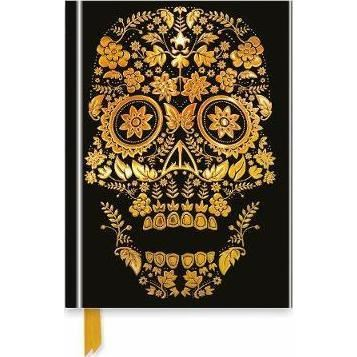GOLD SUGAR SKULL (Flame Tree Notebooks)