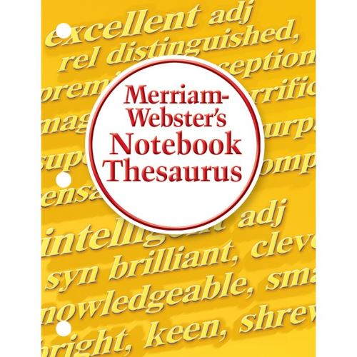 MERRIAM-WEBSTER NOTEBOOK THESAURUS