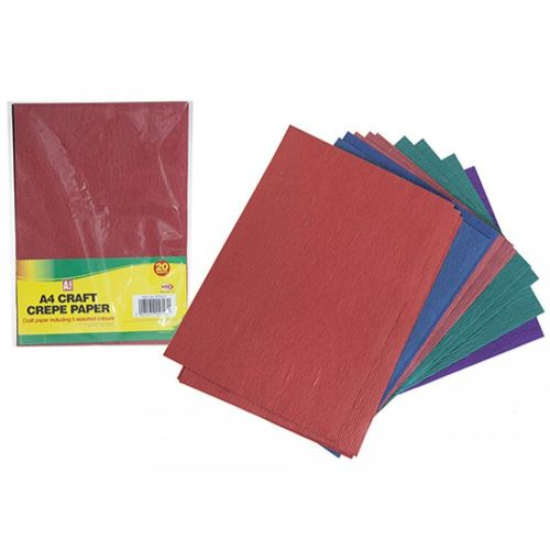 A4 SHEETS OF CRAFT CREPE  PAPER