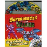 Superheroes And Villians Carry Along Colouring Set
