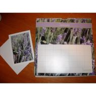 Lavender Greeting Card Calendar