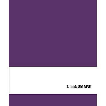 Sam's Blank Purple Notebook Big imagine