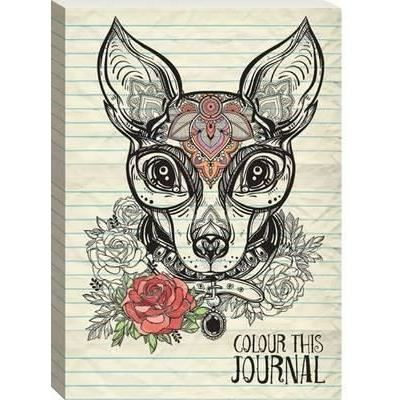 Colour This Journal (Decorated Dog)