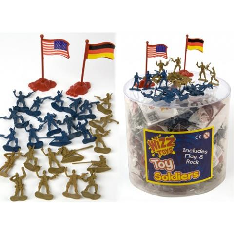 12pc soldiers and flag and rock