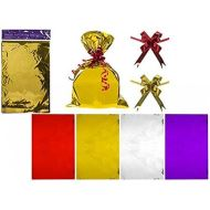 Set Of 4 Metallic Foil Gift Bag Set 8pcs In Assorted Colours