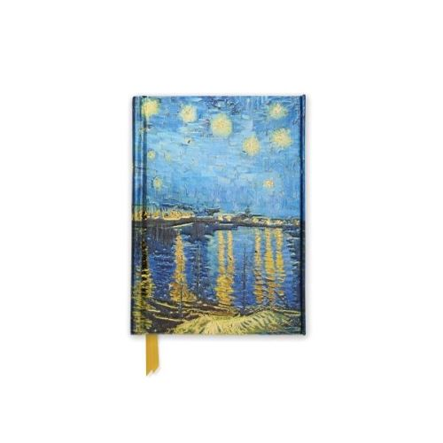 Foiled Pocket Journal: Starry Night Over The Rhone (van Gogh) (Flame Tree Notebooks)