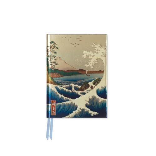 Foiled Pocket Journal: Sea At Satta (Hiroshige)