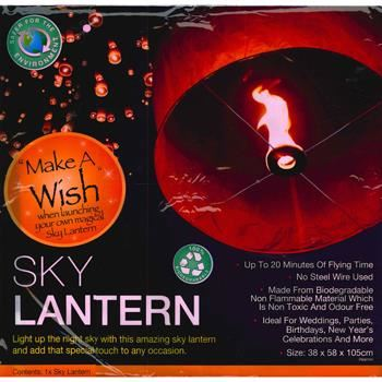 Chinese Magic Make A Wish Sky Lantern