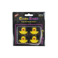 4 Piece Yellow Duck Erasers