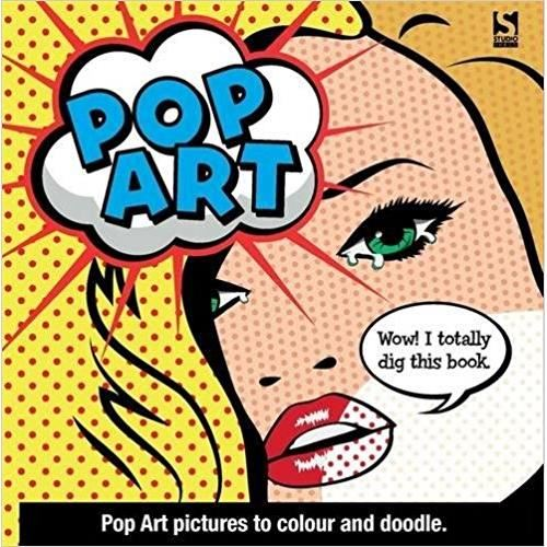 POP ART ADULT COLOURING BOOK
