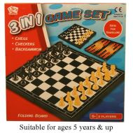 3 IN ONE CHESS SET