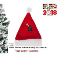 "16 x 12"" Plush Red Deluxe Christmas Hat Xmas Hat Santa Secret Santas Gift Idea"