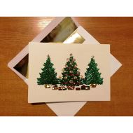 CHRISTMAS TREES CARDS