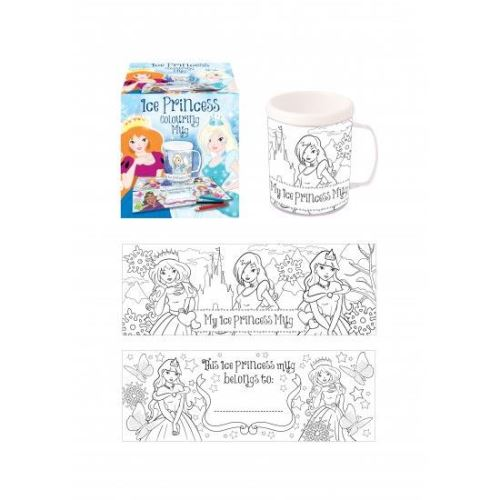 COLOUR YOUR OWN MUG ICE PRINCESS