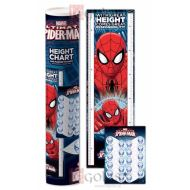 SPIDERMAN HEIGHT CHART & MARKER STICKERS WALL POSTER