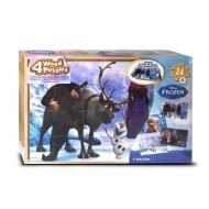 Disney Frozen 4 Wood Jigsaw Puzzles in Wood Storage Box