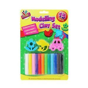 15 PIECE MODELLING CLAY SET