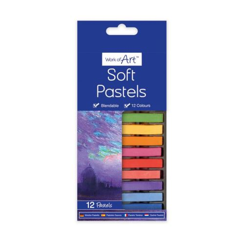 TALLON 12 SOFT PASTELS ASSORTED COLOURS