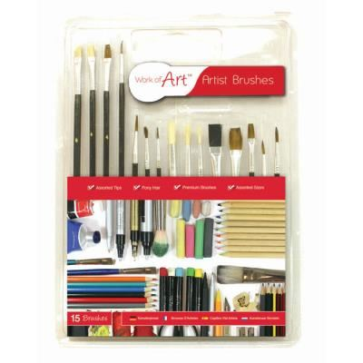 15 PC PAINT BRUSHES