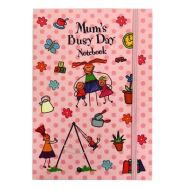 Mum's Busy Day Notebook with Elastic Closure