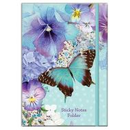Polka Dot Viola: Large Sticky Note Folder