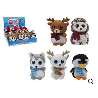 10CM MINI GOSHIES XMAS DESIGNS SPARKLE EYES PLUSH