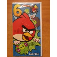 ANGRY BIRDS BIRTHDAY 6 YEARS CARD