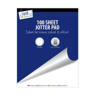 Just Stationery - 100 Sheet Super Value Jotter Plain Paper Block Pad