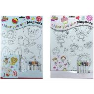 TALLON Art Box Colour Your Own Magnet (Pack of 10)