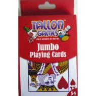 TALLON Games Pack of Plastic Coated Jumbo Playing Cards (54 Cards)