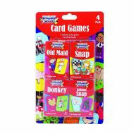 TALLON Children's Playing Cards Pack of 4 Games