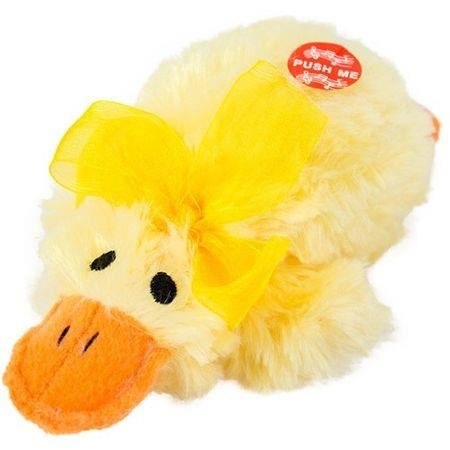 Plush Duck with duckling sounds 15cm