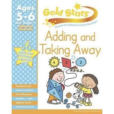 Gold Stars KS1 Adding and Taking Away Workbook Age 5-7 (Activity Books)