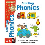Gold Stars Starting Phonics Ages 3-5 Early Years (Activity Books)