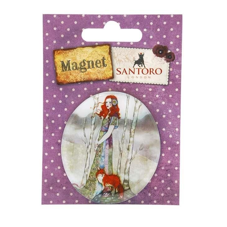 Santoro - Willow - Magnet The Fox Lady imagine