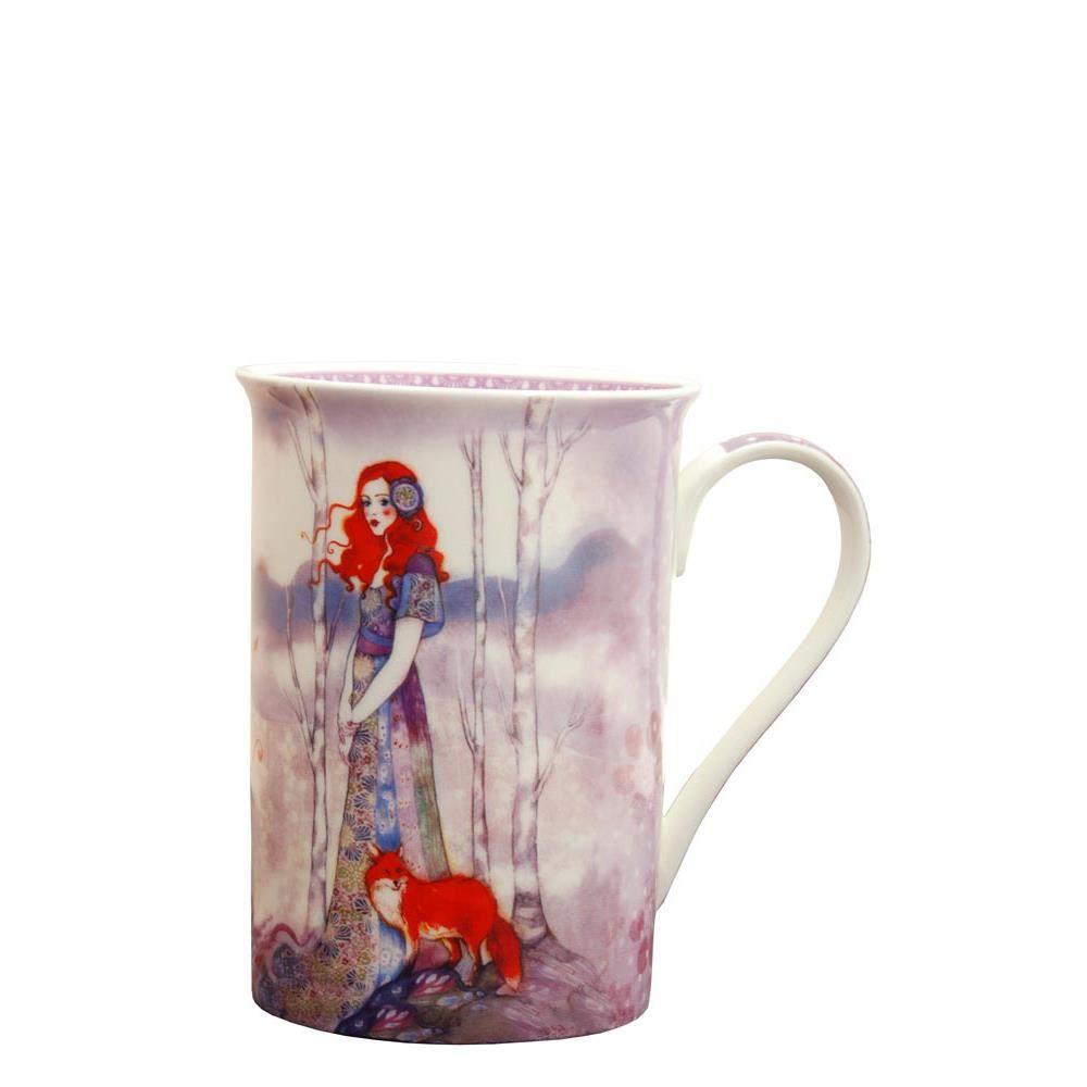 Tall Mug Fox Lady (Santoro) imagine