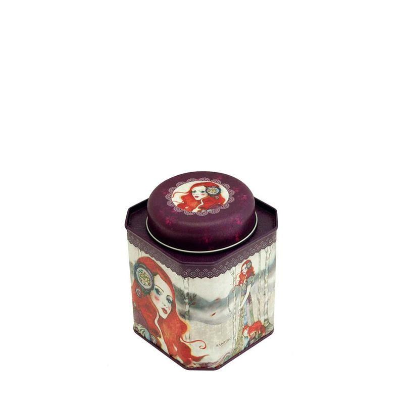Santoro Fox Lady Storage Tin Jar imagine