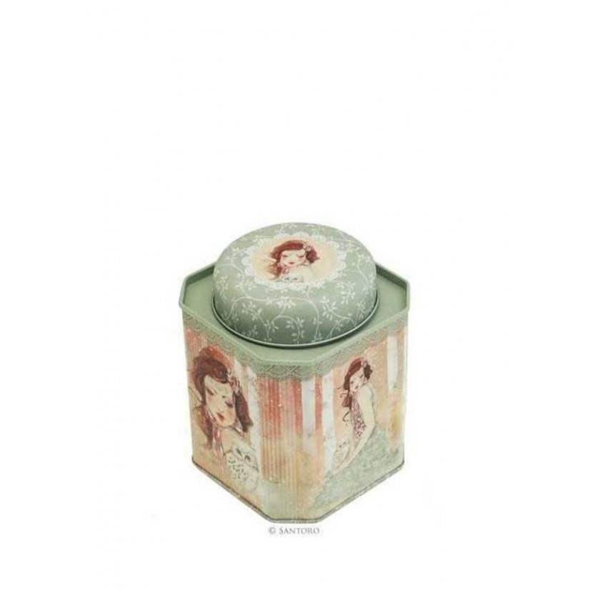 Santoro Mademoiselle Snow Storage Tin Jar imagine