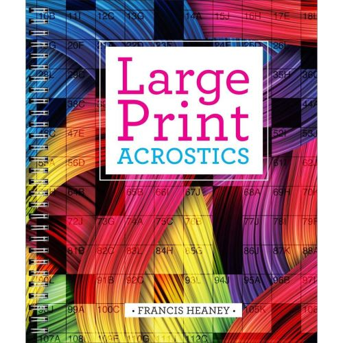 Large Print Acrostics (Activity books)