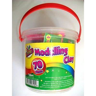 70 Piece Modelling Clay Tub