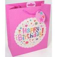 Happy Birthday Pink Medium Size Gift Bag