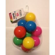10 MULTICOLOURED BALLS