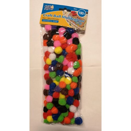 CRAFT BALLS MULTICOLOUR