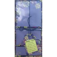 Sticky Notes Blue Floral
