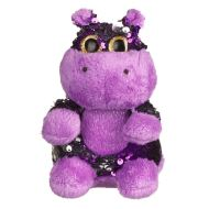 Goshie Glitzies Small Purple and Silver Hippo